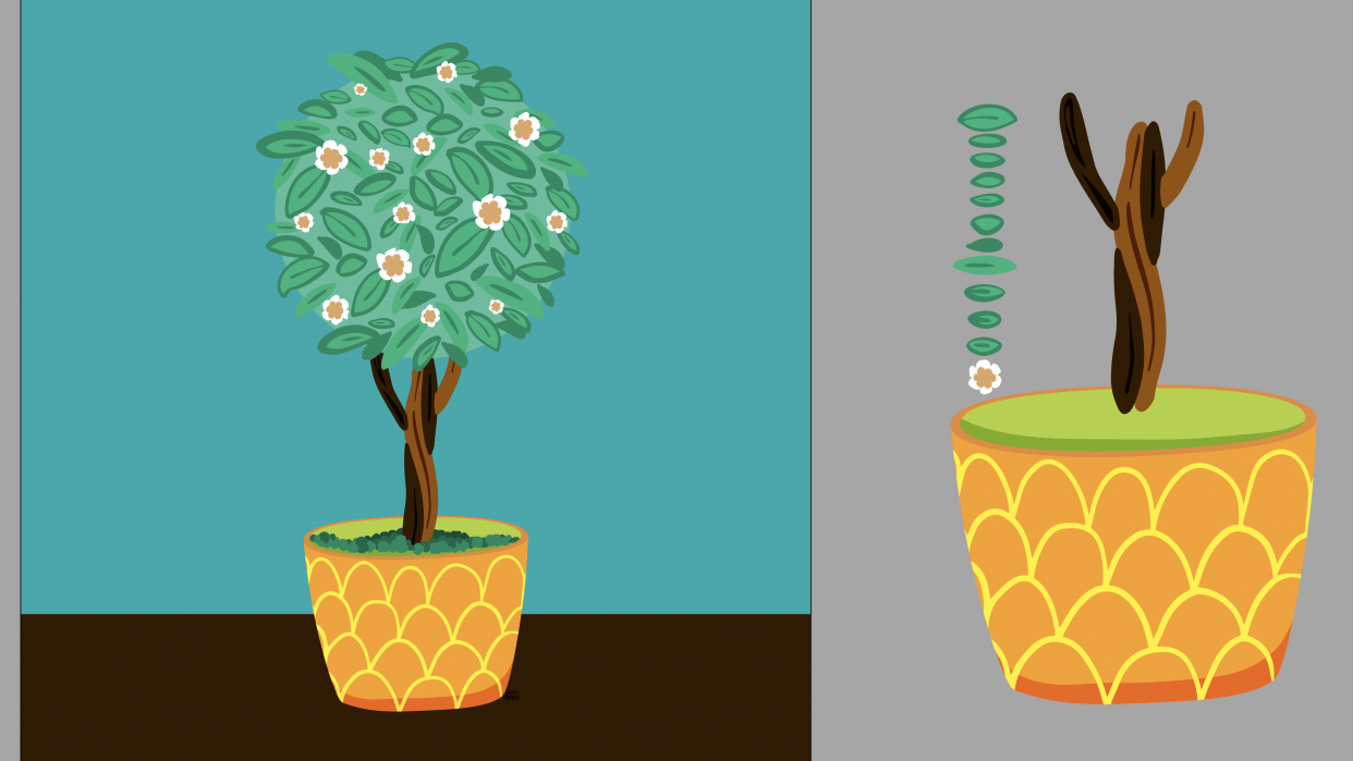 Botanical Brushes: Topiary - student project