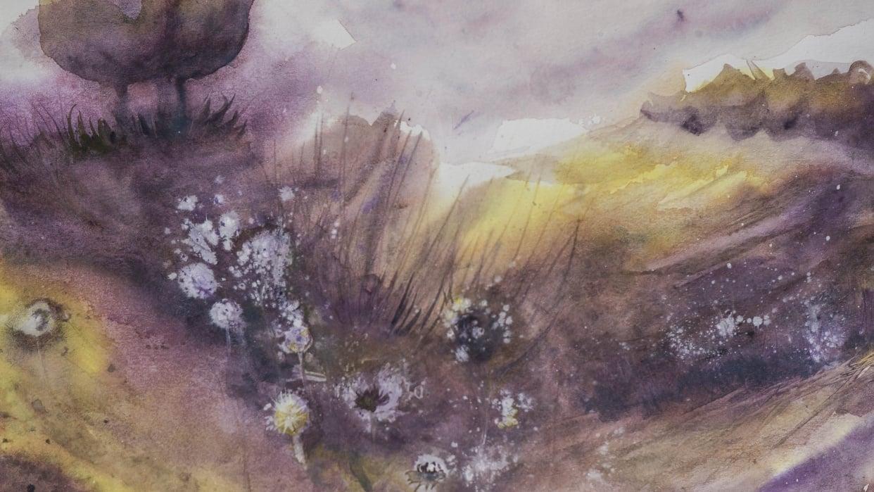 Yello and purple landscape... - student project