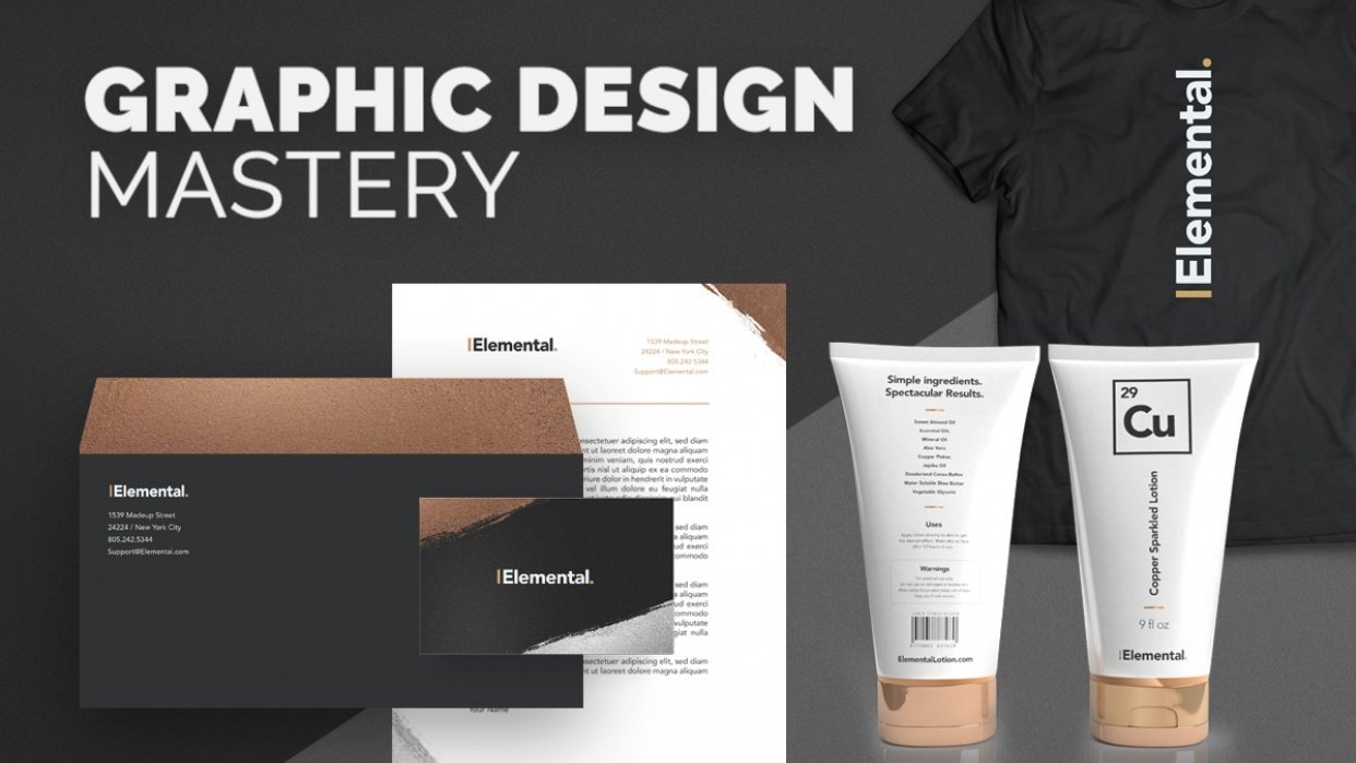 The Elemental Brand - Full Design Process - student project