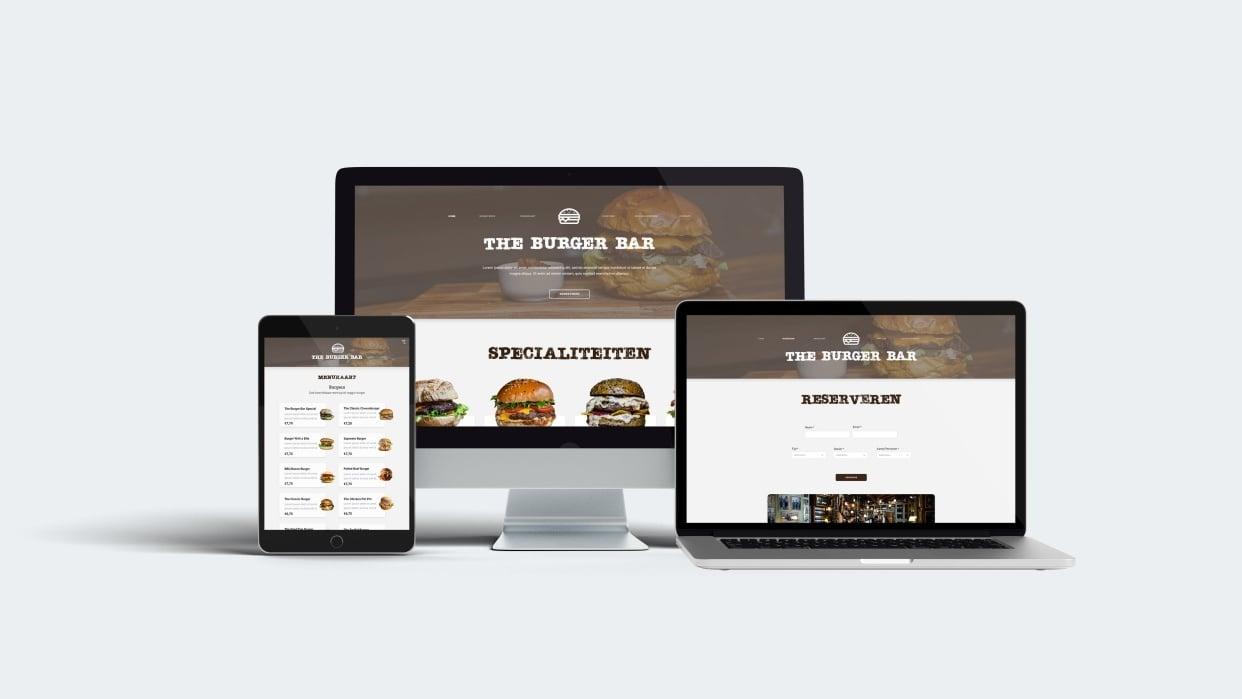 Burger Bar Website - student project