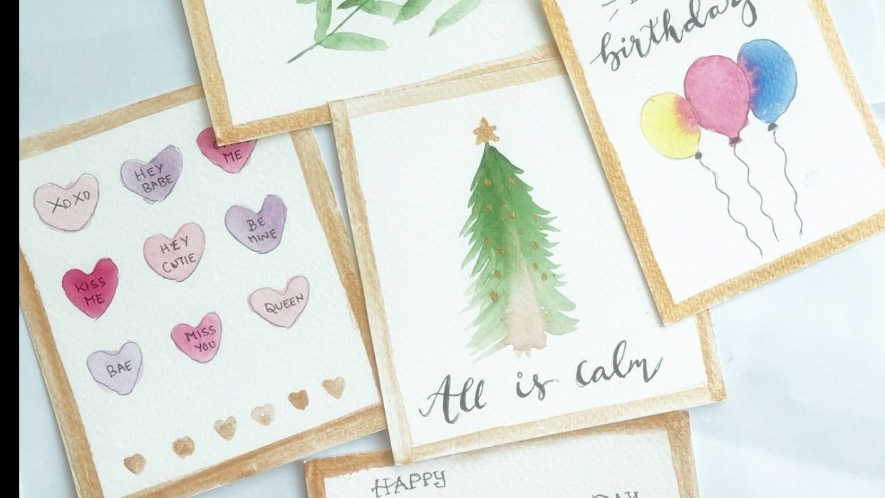 Handmade cards - student project