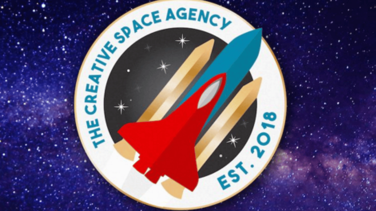 Rocket logo using pen tool & shape builder tool - student project