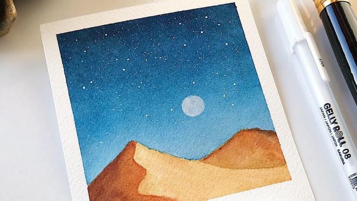 Polaroid Galaxies - student project
