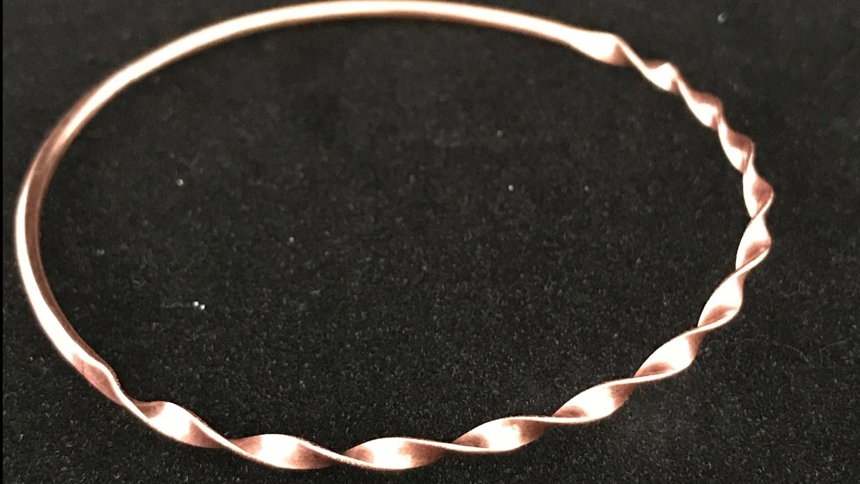 Twisted Ribbon Bangles - student project