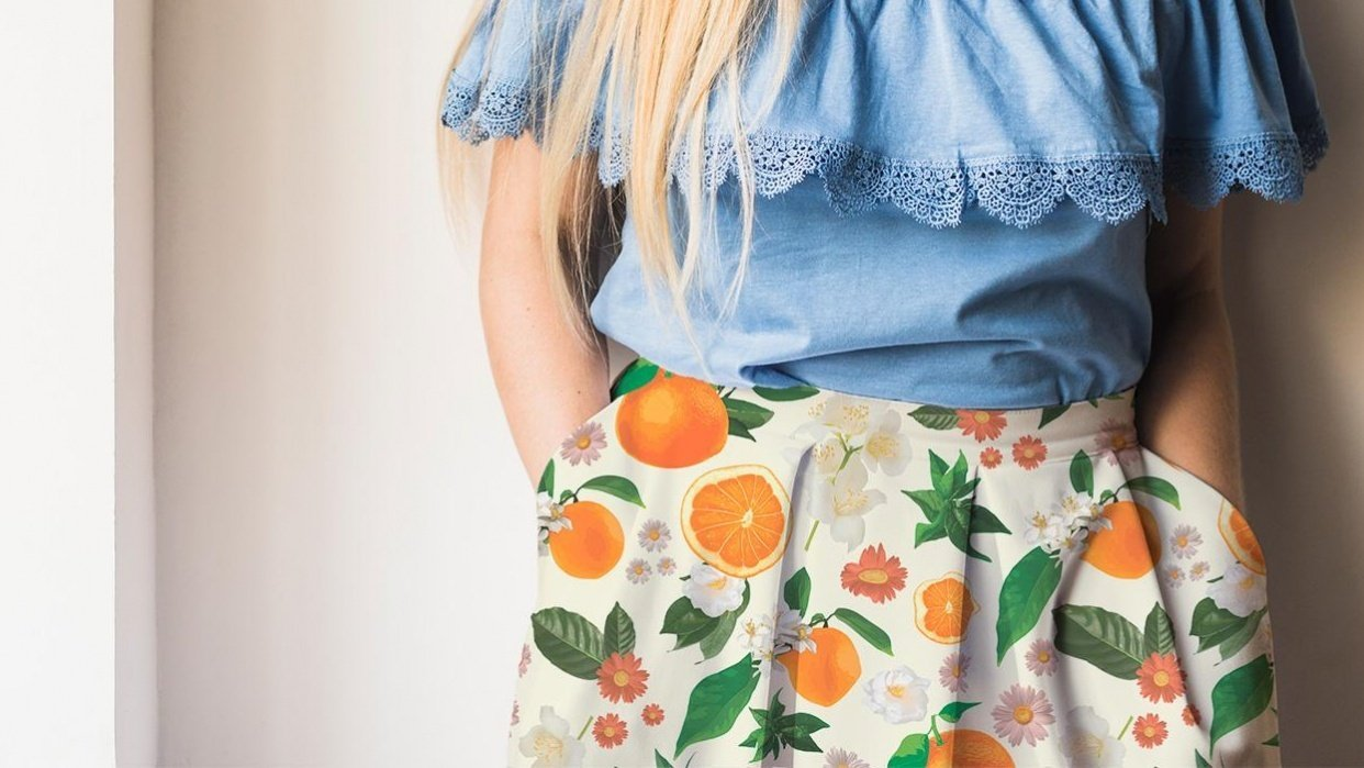 Clementine Crush Skirt Mock Up - student project