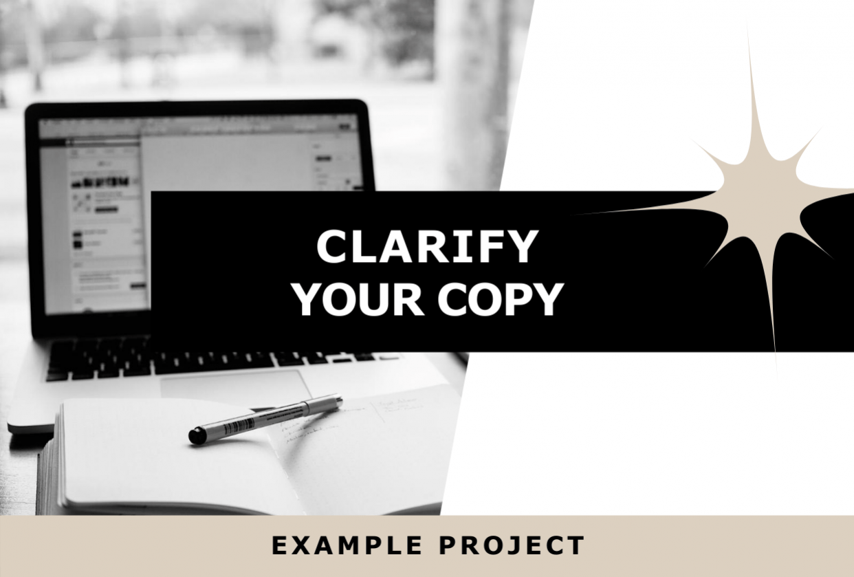 Clarify Your Copy: Example Project - student project