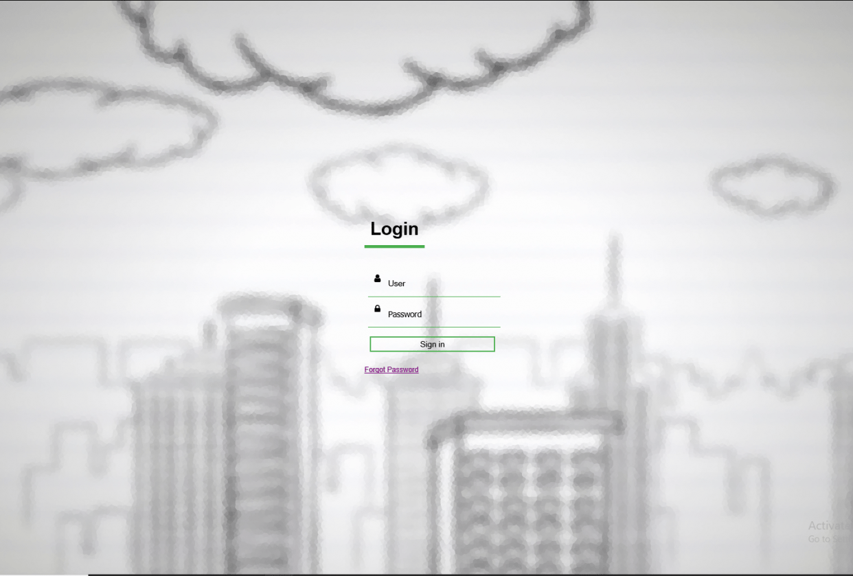 Login page - student project