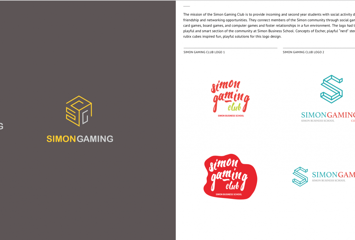 Logo: Simon Business School Gaming Club - student project