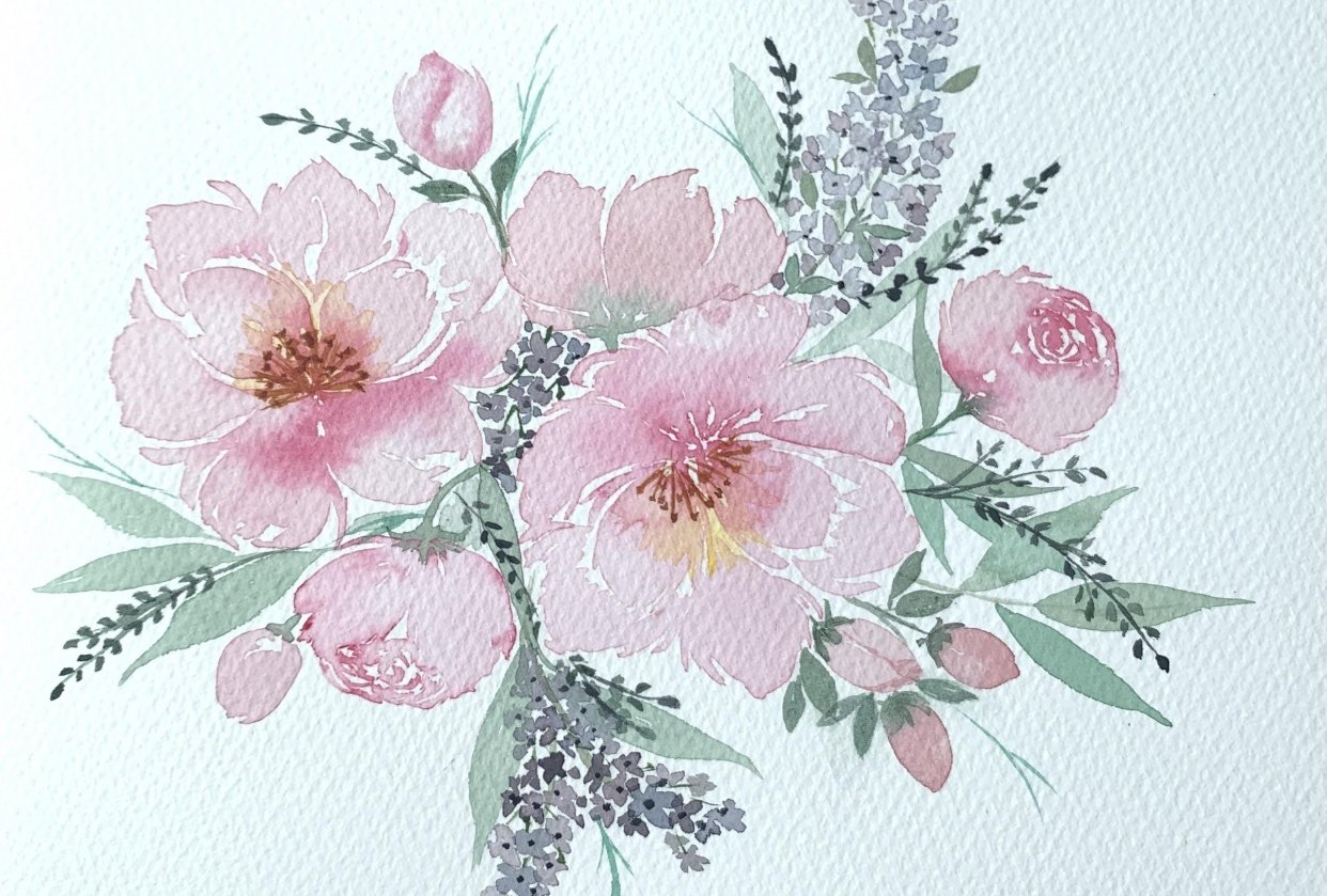 Loose Peonies with Joly - student project