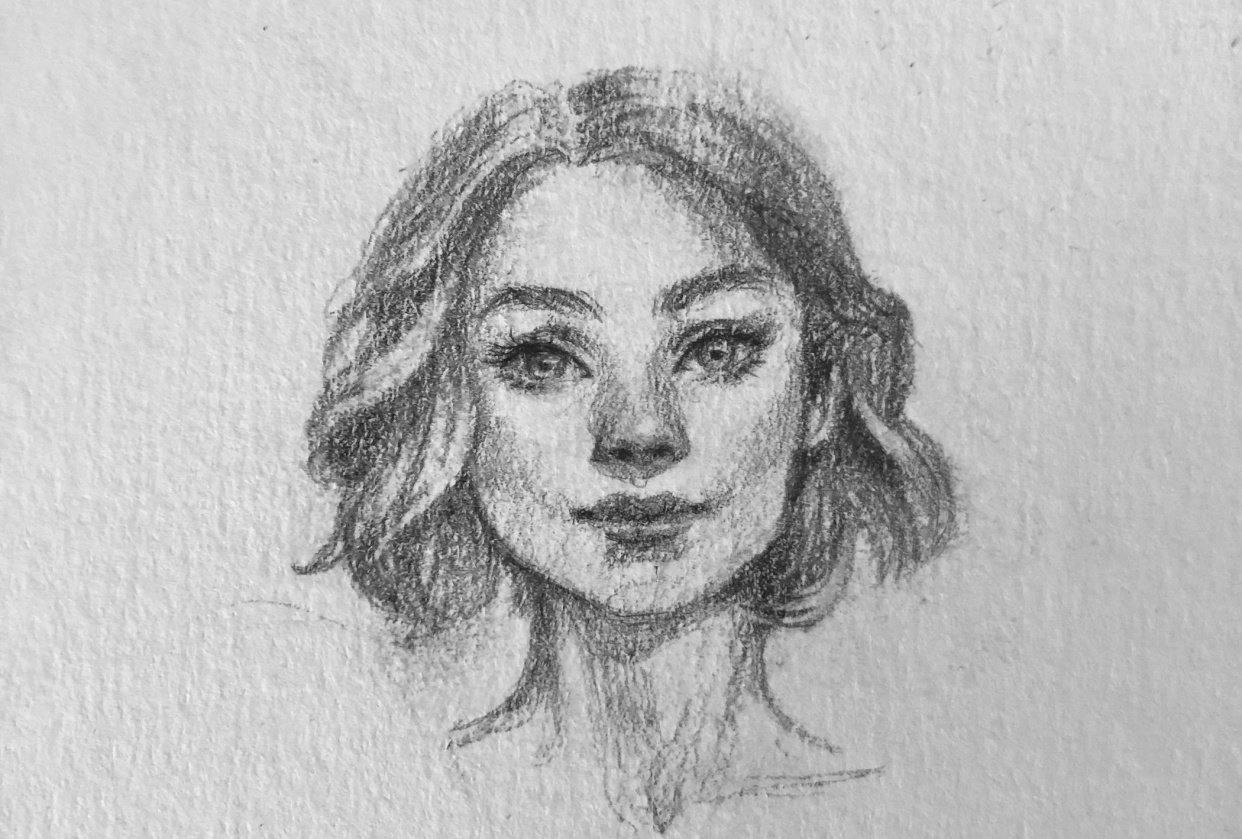 Female face - student project