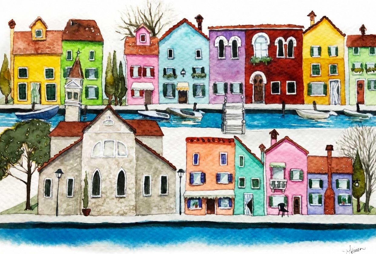 Burano, Italy - student project