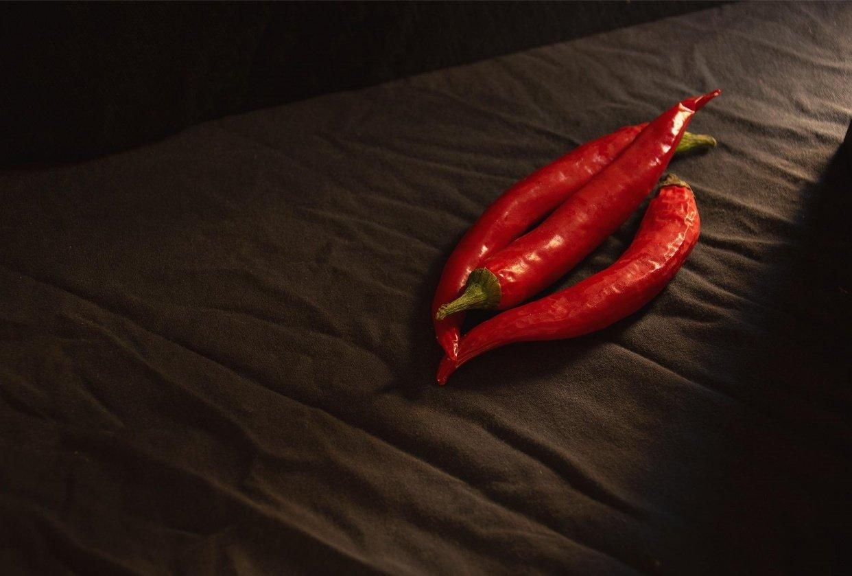 Dark and Moody Hot Chili Pepper - student project