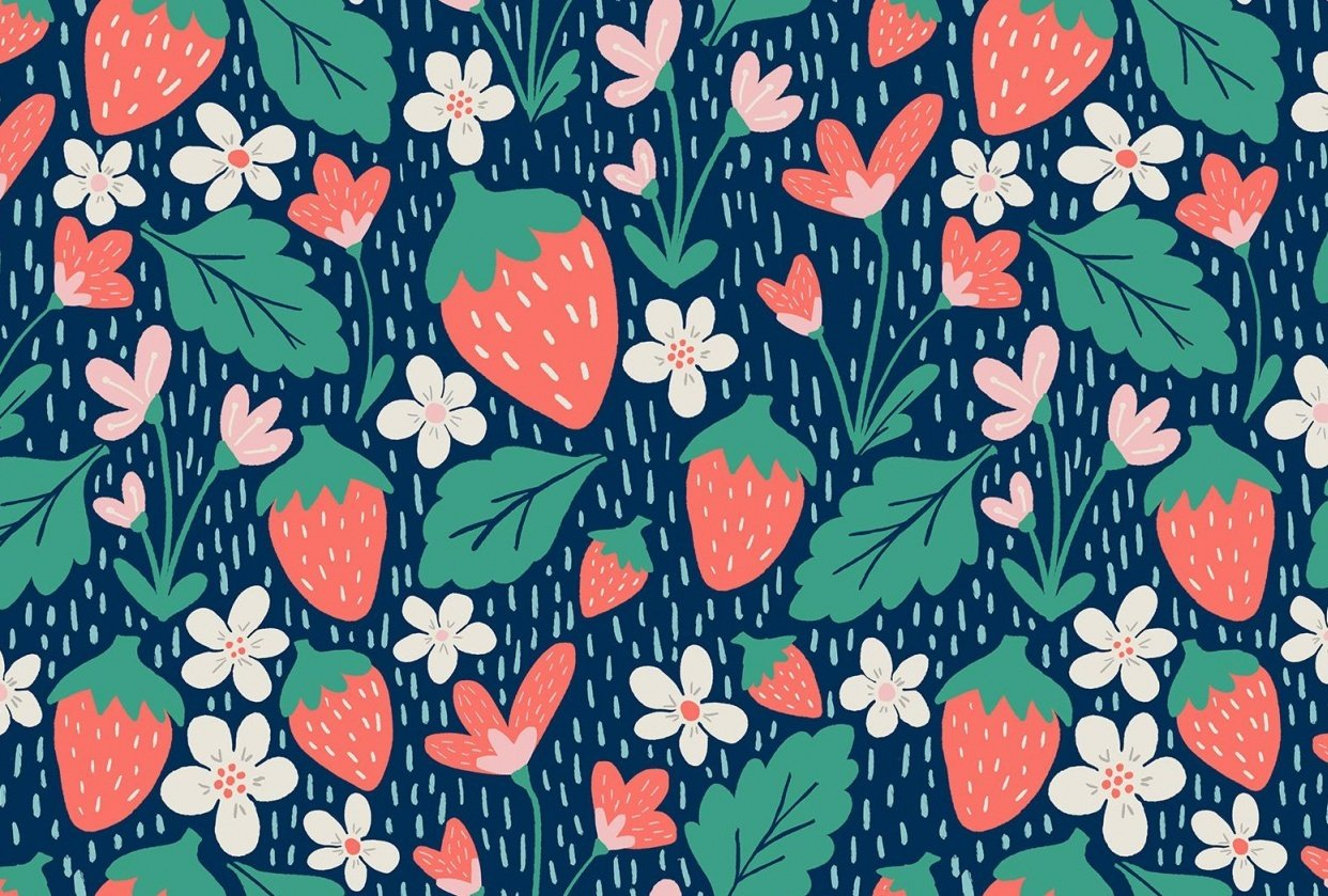 Spring Strawberries - student project