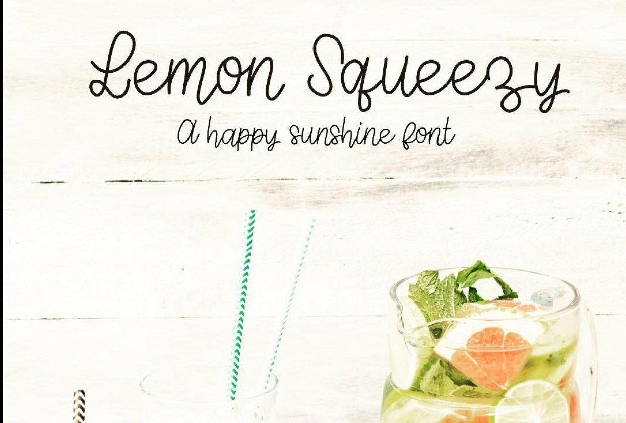 Lemon Squeezy Font - student project