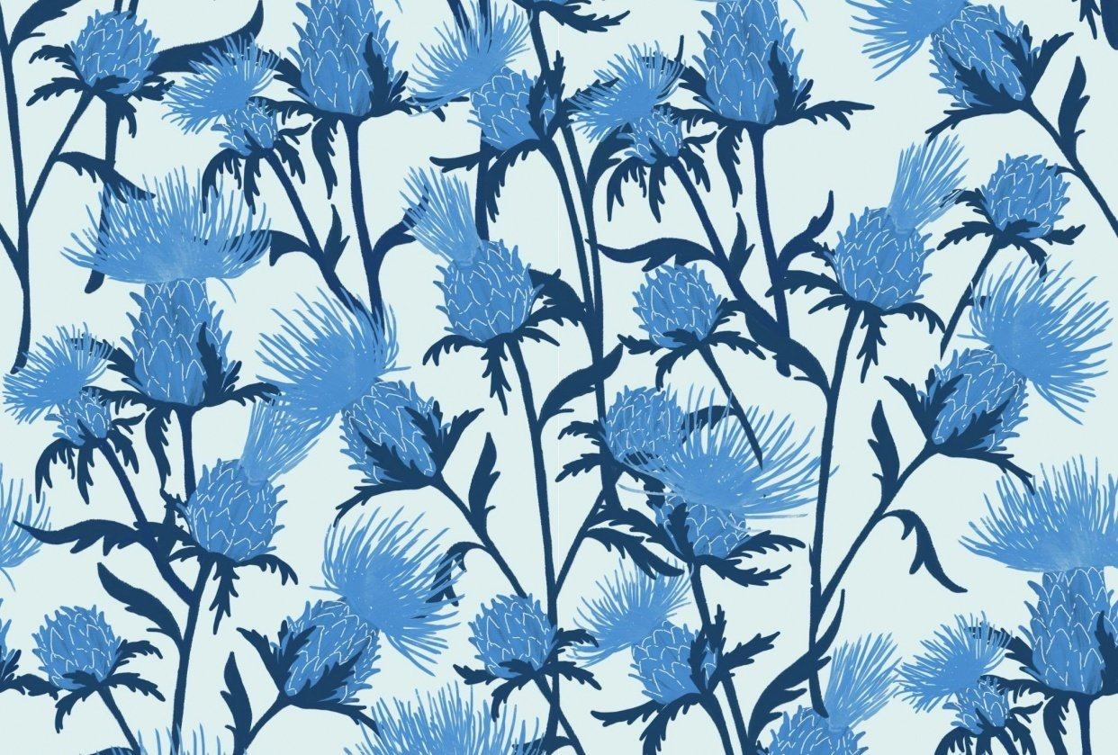 Thistle pattern - student project