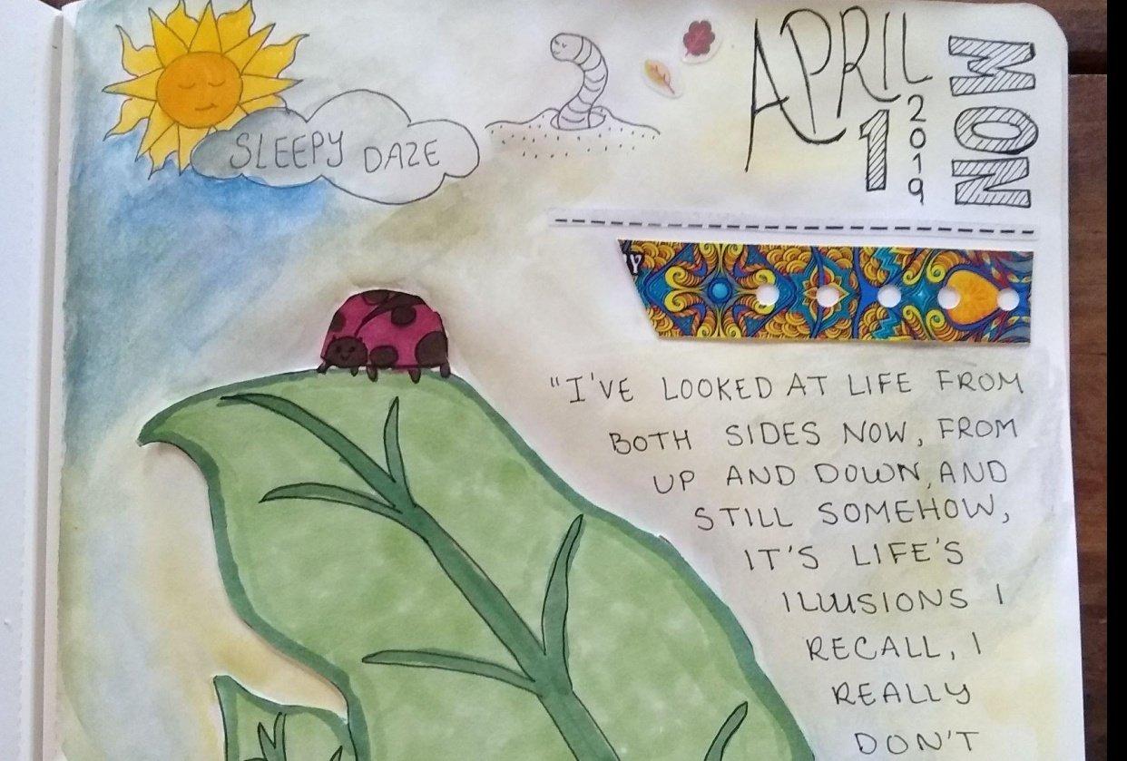 Summer's Sketchbook Journal Collage - student project
