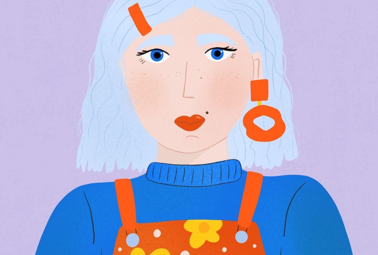 Purple Girl - student project