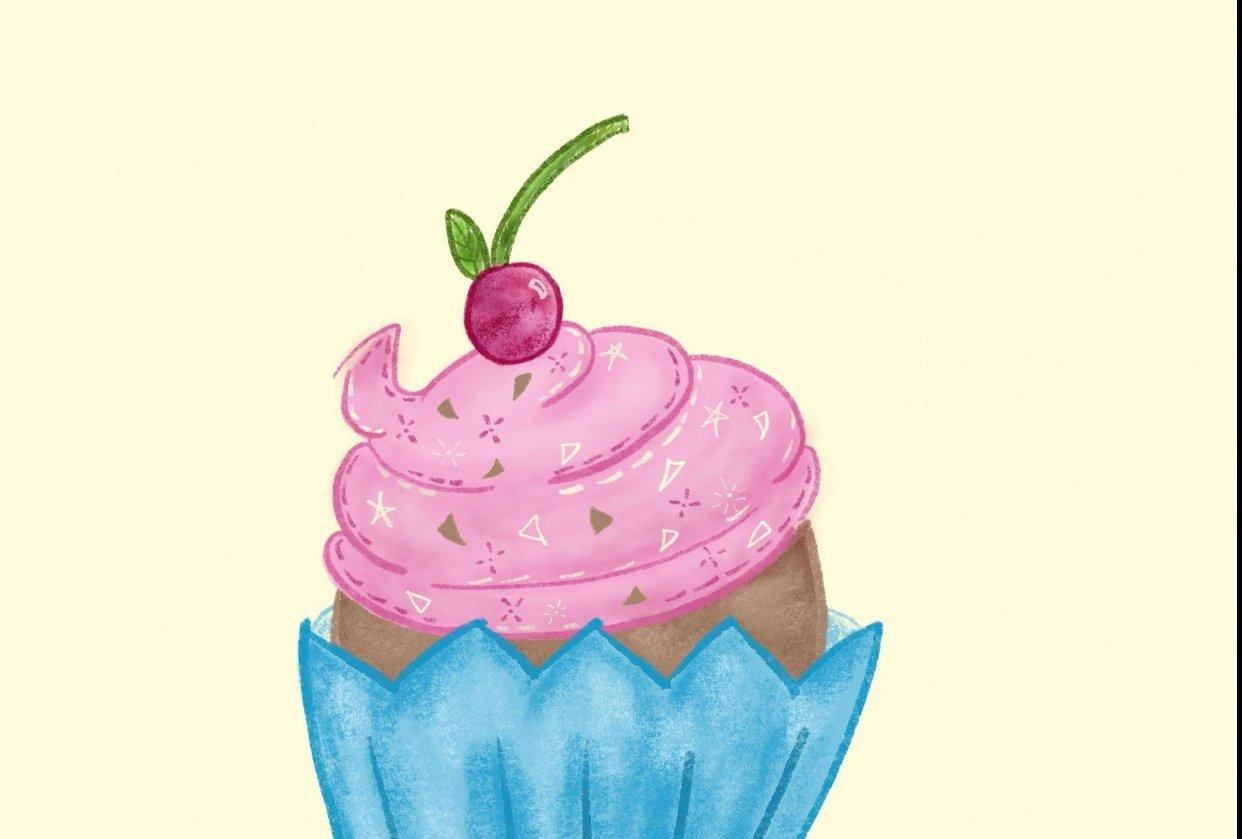 Procreate Cupcake - student project