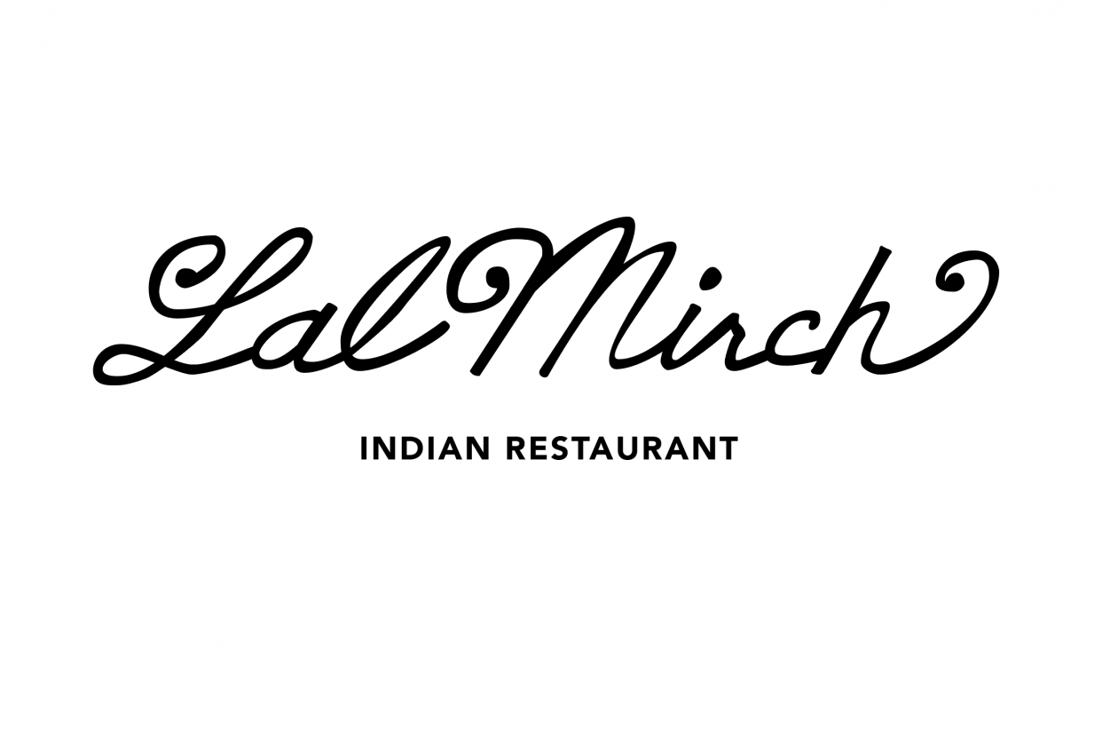 Learning Letterforms - Lal Mirch Indian Restaurant - student project