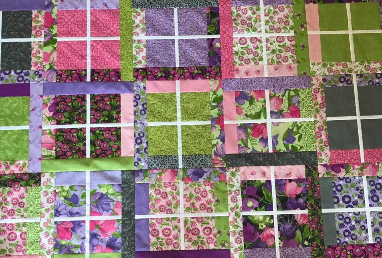 Window Shopping Quilt - student project