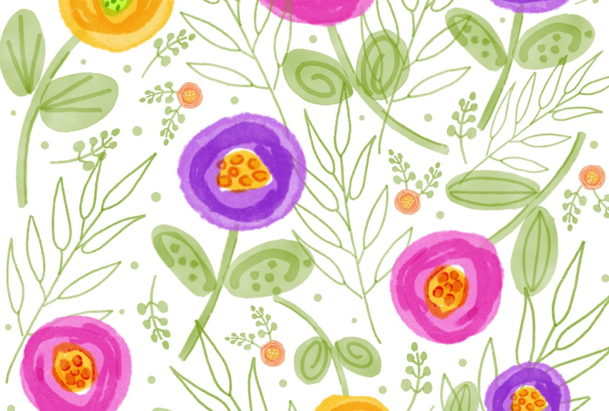 Repeat Patterns in Affinity Designer - student project