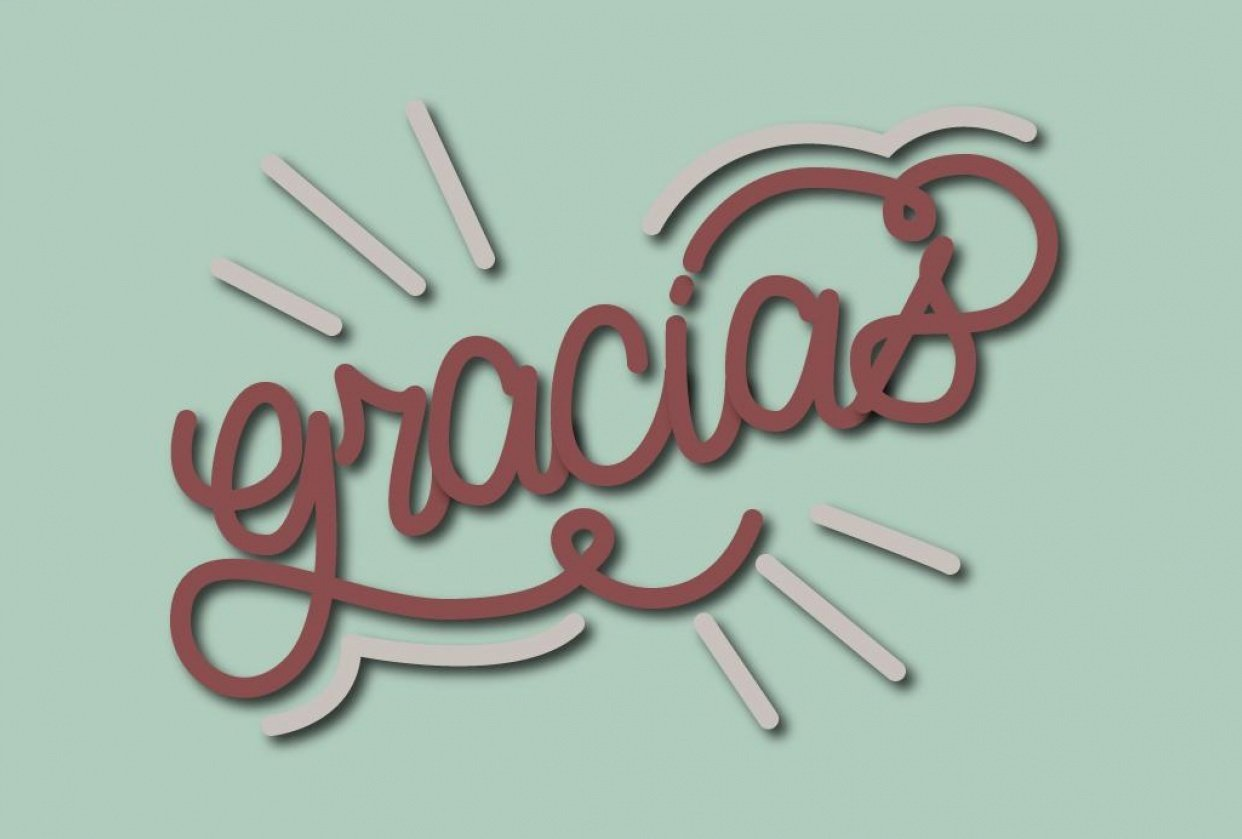 Gracias (Thank You) - student project