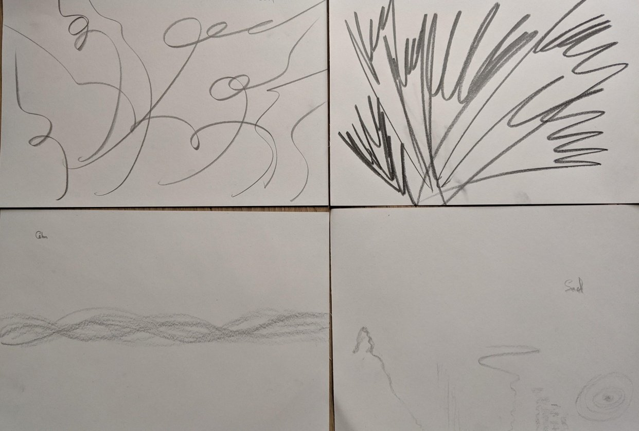 Emotions through lines - student project