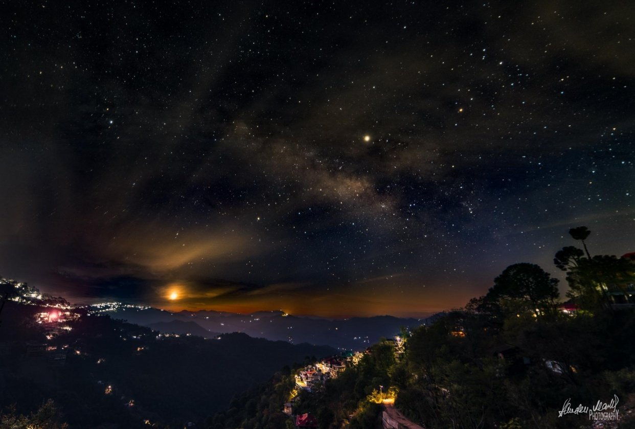 Milkyway over Kasauli - student project