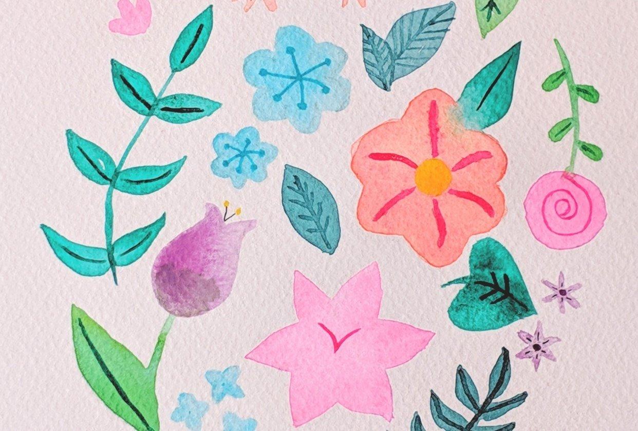 4/6/2019 - Floral Illustration - student project