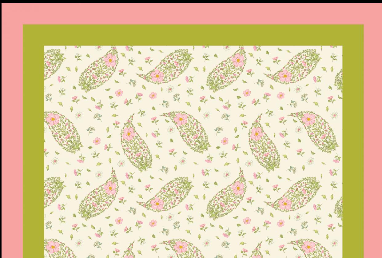 Petit carré floral/paisley scarf - student project