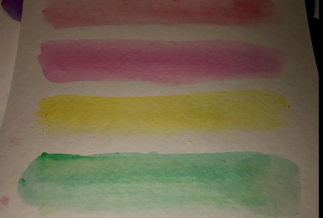 Watercolour Stripes - student project
