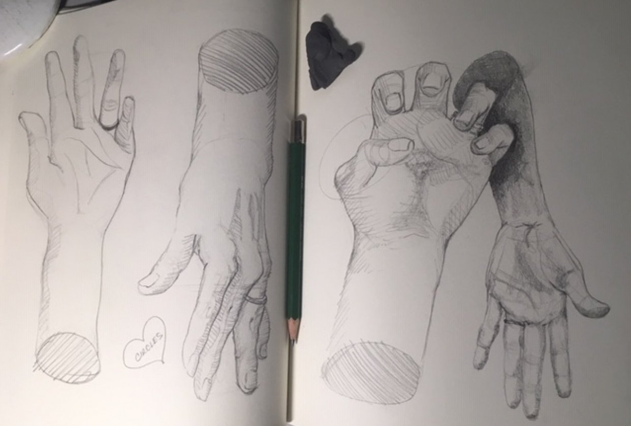 Hands Sketches - student project