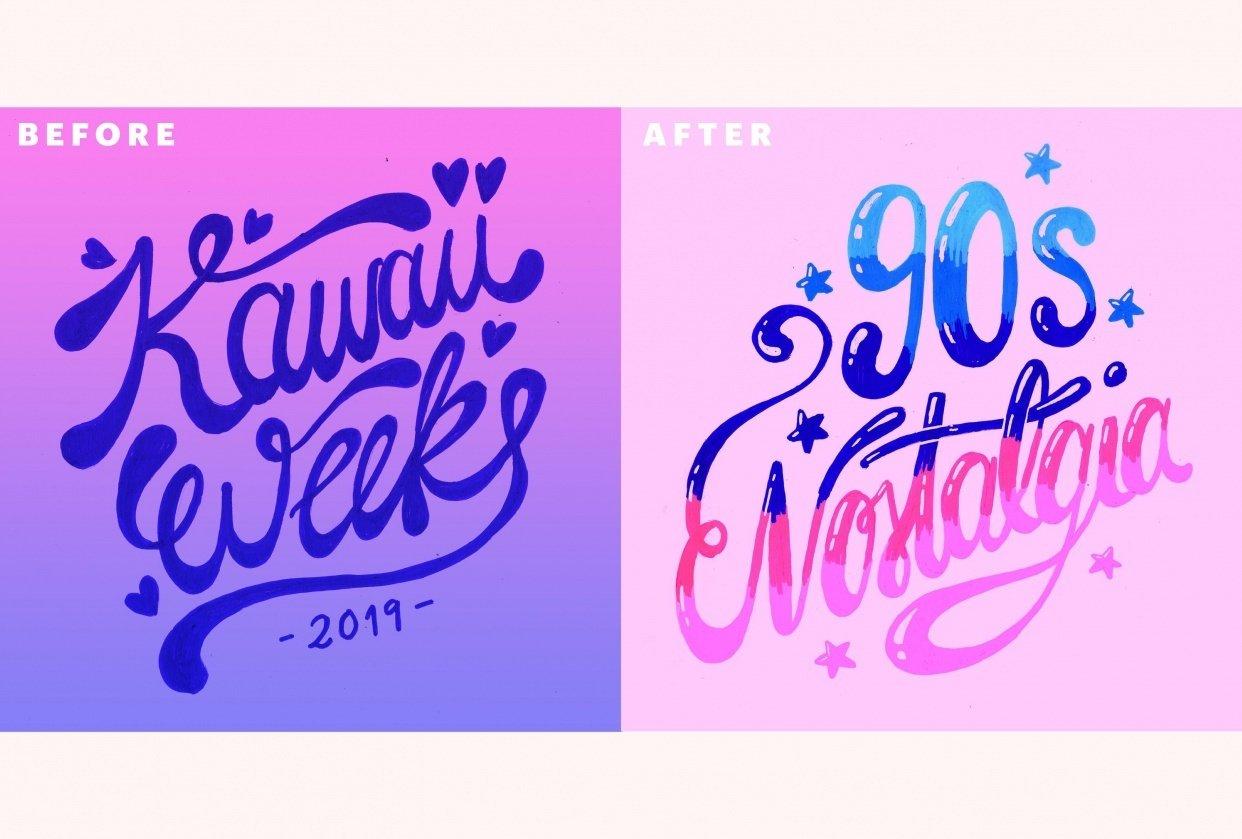 Kawaii week (Instagram drawing challenge) - student project