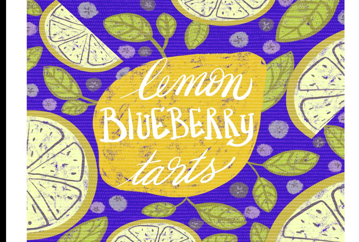 Yummy lemon blueberry tarts :) - student project