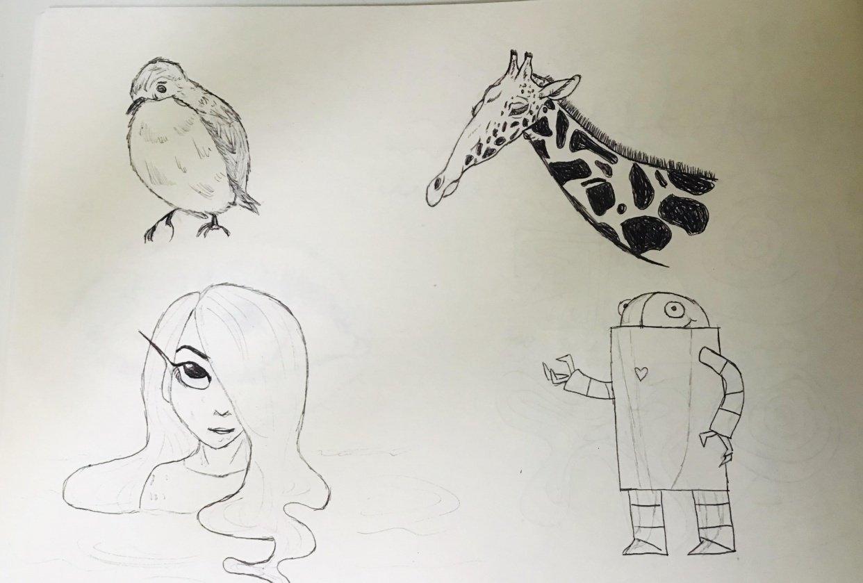 Practice + Mermaid & Robot - student project