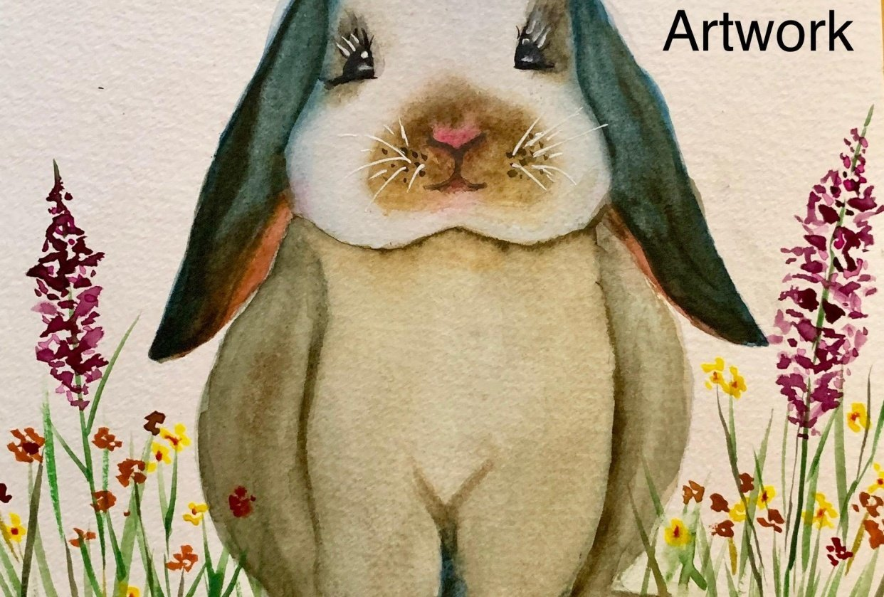 Watercolor Bunny - student project