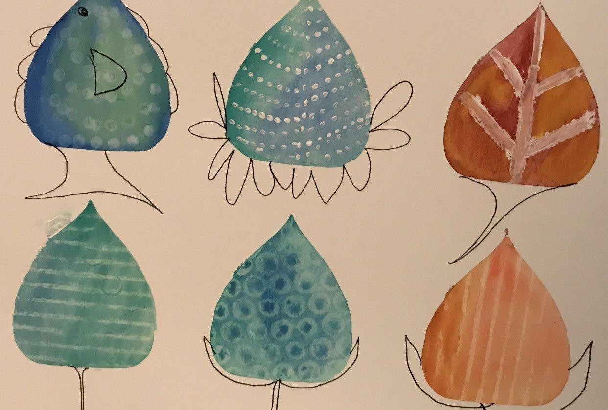 Watercolor Fieldtrip Project - student project