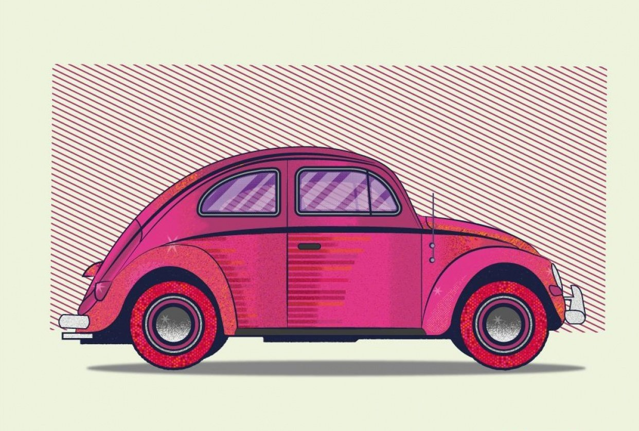 VW Beetle Texture - student project