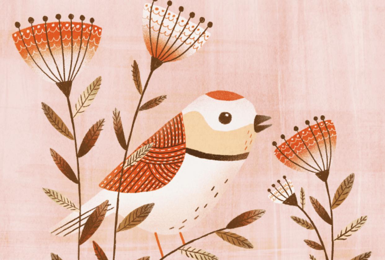 Textured Birdie - student project