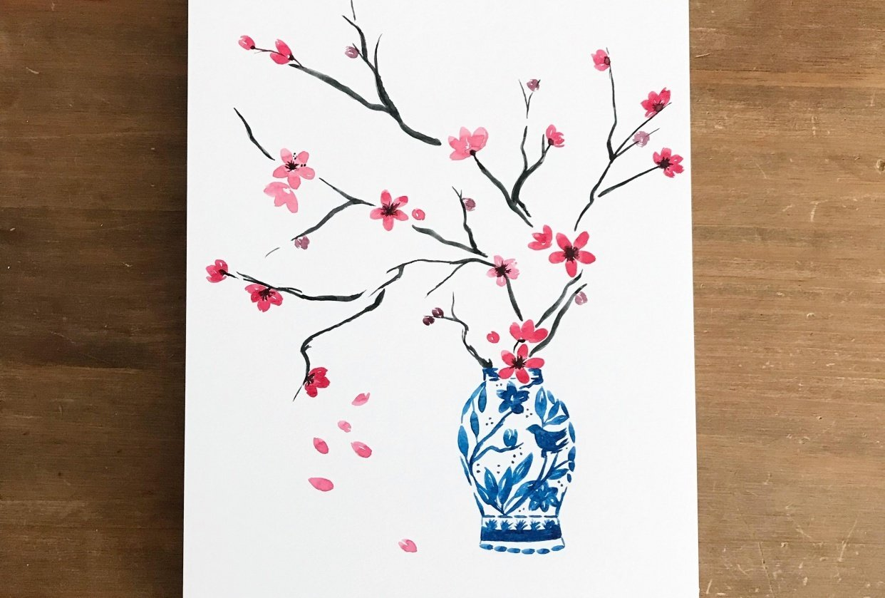 Spring blossom, 3 ways - student project
