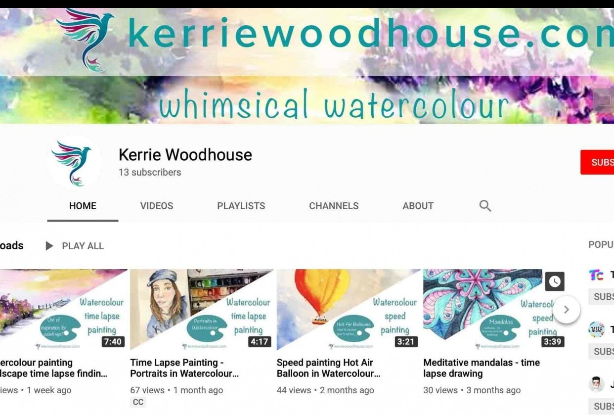 My new watercolour channel - student project