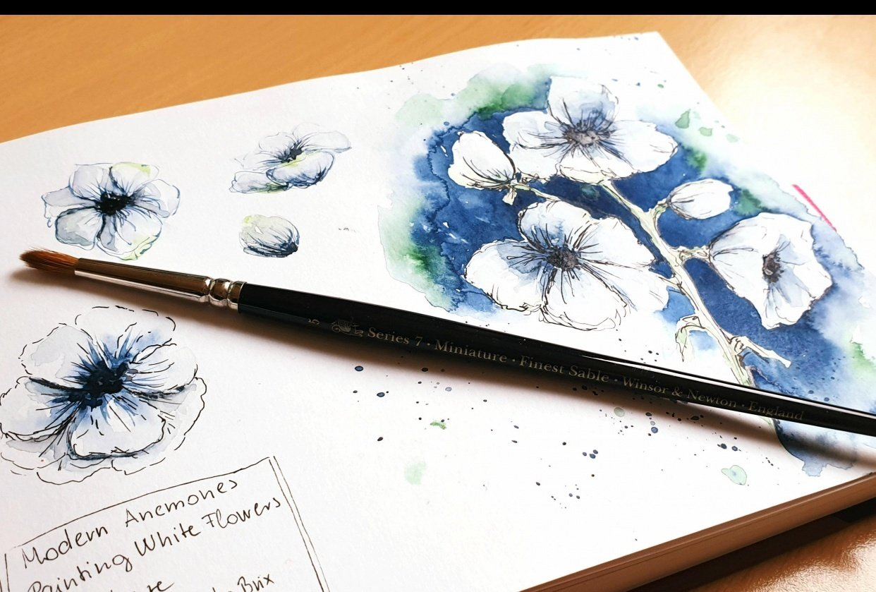 Modern Anemones with Camilla - student project