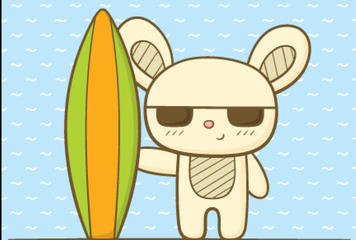Surfing Bunny - student project