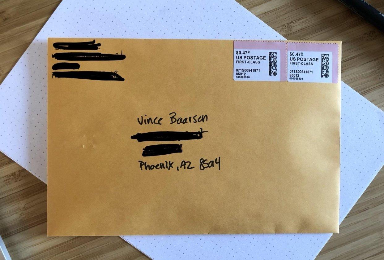 My Envelope Manifesto - student project
