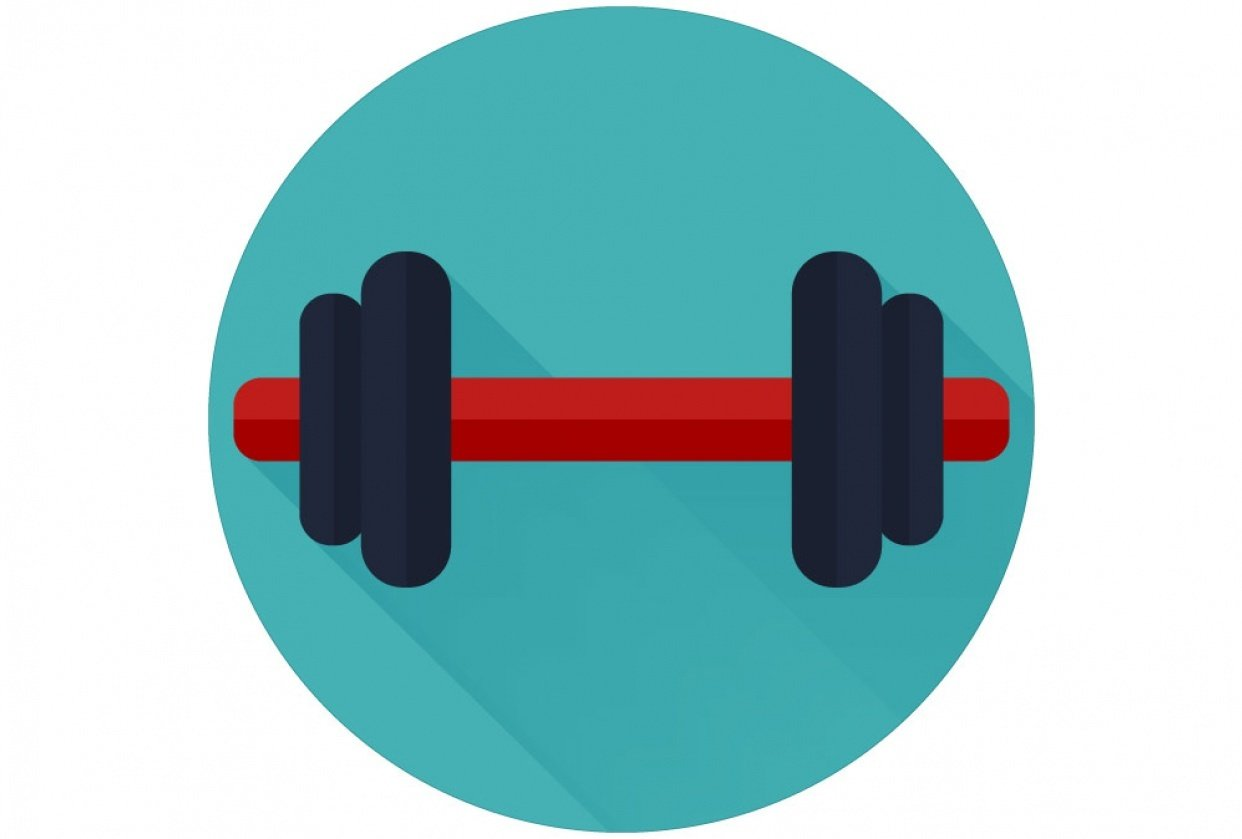 Dumbbell Icon - student project