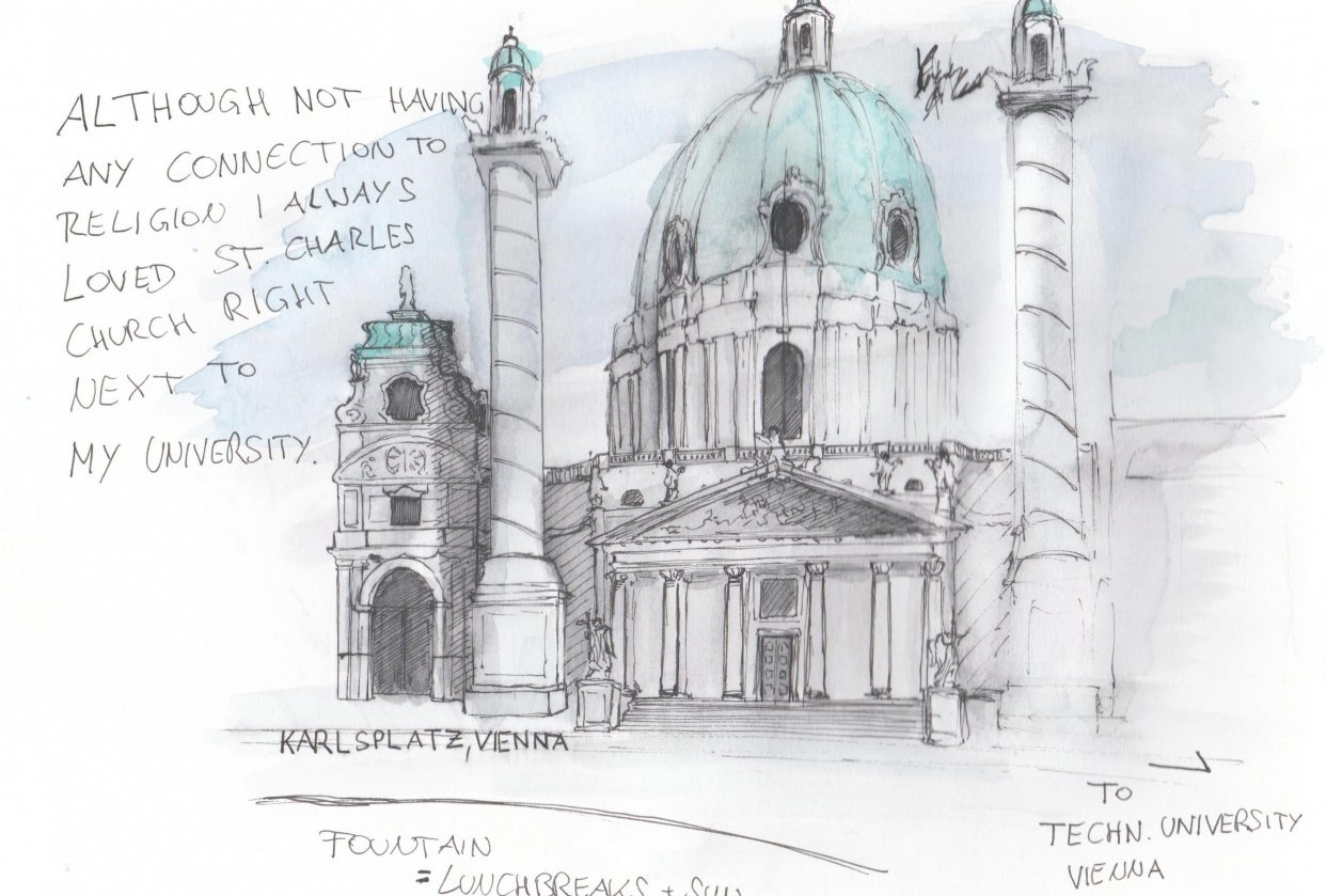 St.Charles Church Vienna - student project