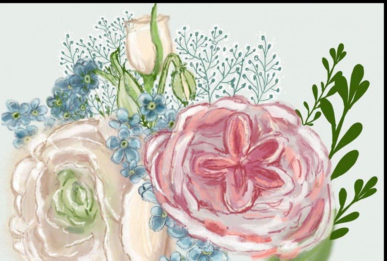 Procreate Digital Florals - student project