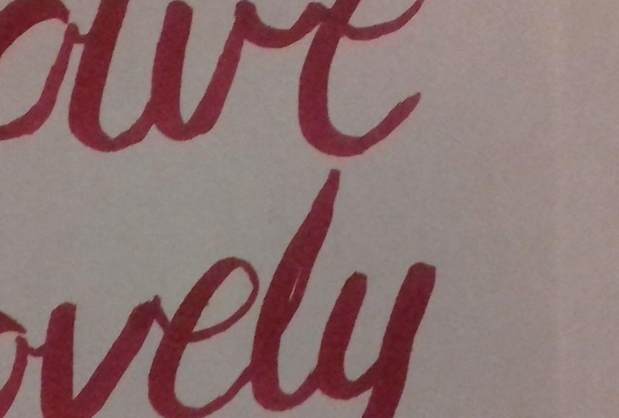 brush lettering - student project