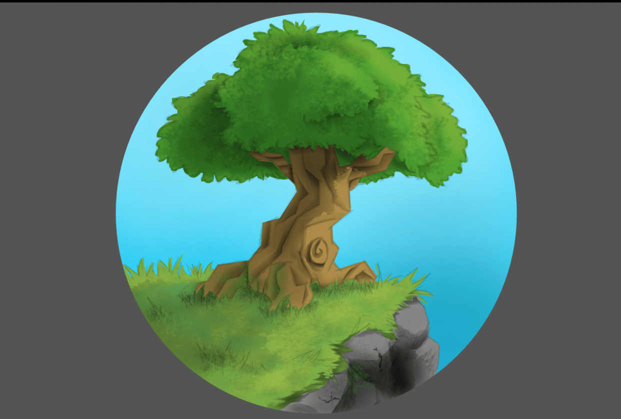 Tree on a Hill - student project