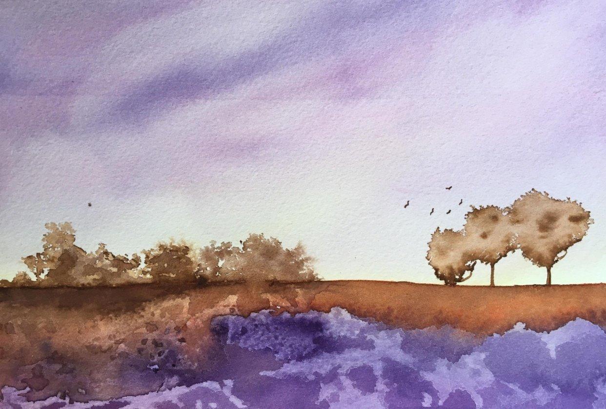 Purple Landscape - student project